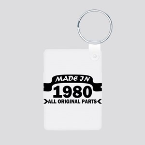 made in 1980 born Keychains