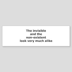 The Invisible Bumper Sticker