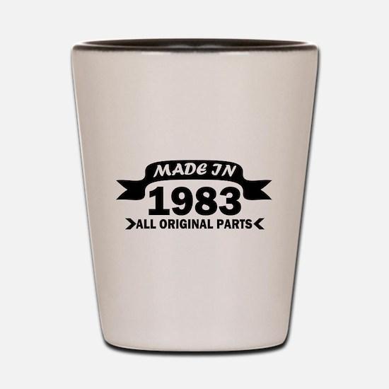 made in 1983 born Shot Glass