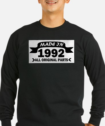 made in 1992 born Long Sleeve T-Shirt