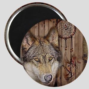 vintage Americana wild wolf  Magnet