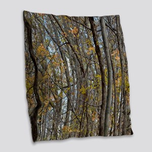 forest trees Camo Camouflage  Burlap Throw Pillow