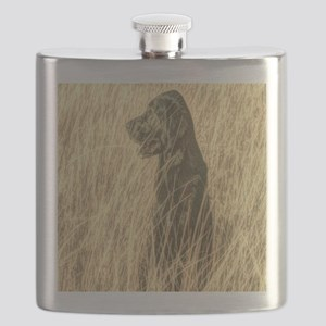 rustic country farm dog Flask