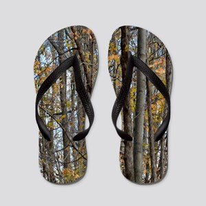 forest trees Camo Camouflage  Flip Flops