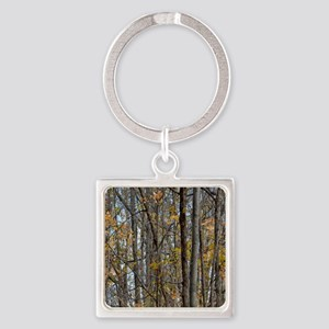 forest trees Camo Camouflage  Square Keychain