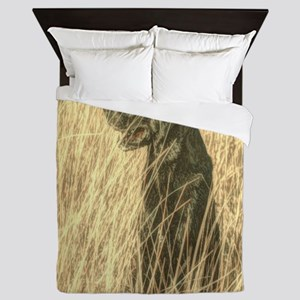 rustic country farm dog Queen Duvet