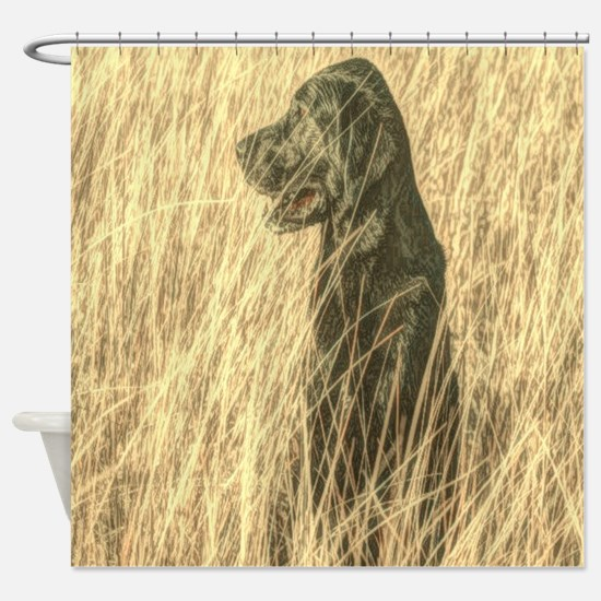 rustic country farm dog Shower Curtain