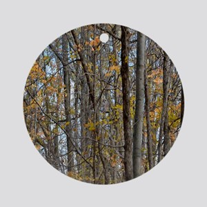 forest trees Camo Camouflage  Round Ornament