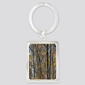 forest trees Camo Camouflage  Portrait Keychain
