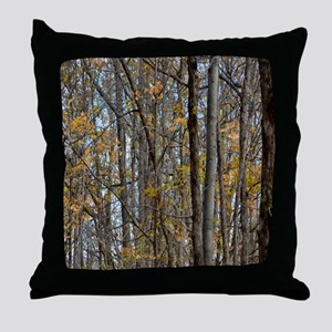 forest trees Camo Camouflage  Throw Pillow