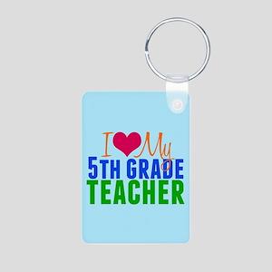 5th Grade Teacher Aluminum Photo Keychain