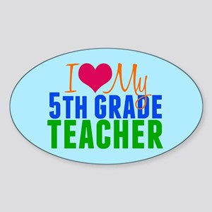 5th Grade Teacher Sticker (Oval)