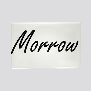 Morrow surname artistic design Magnets
