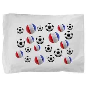 France Soccer Balls Pillow Sham