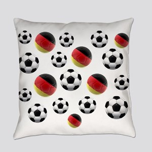 Germany Soccer Balls Everyday Pillow
