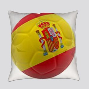 Spain world cup soccer ball Everyday Pillow