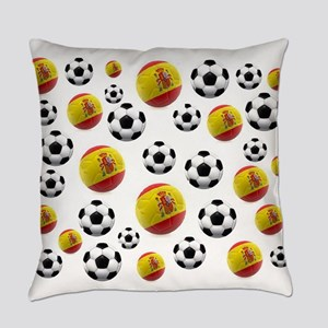 Spain Soccer Balls Everyday Pillow