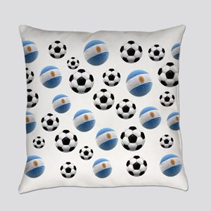 Argentina Soccer Balls Everyday Pillow