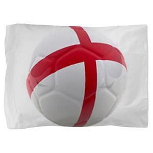 England World Cup Soccer Ball Pillow Sham