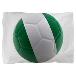 Nigeria World Cup Ball Pillow Sham