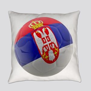 Serbia World Cup Ball Everyday Pillow