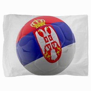 Serbia World Cup Ball Pillow Sham