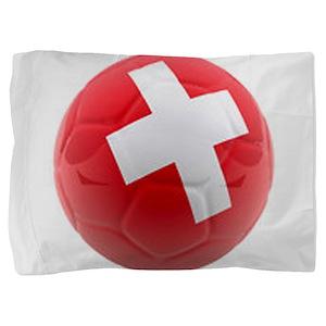 Switzerland World Cup Ball Pillow Sham
