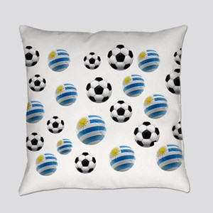 Uruguay Soccer Balls Everyday Pillow