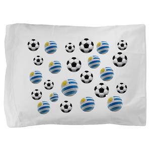 Uruguay Soccer Balls Pillow Sham