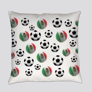 Mexican soccer balls Everyday Pillow