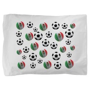 Mexican soccer balls Pillow Sham