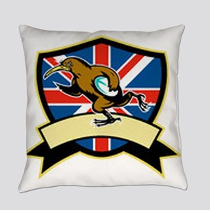 Rugby Kiwi Bird Britain Everyday Pillow