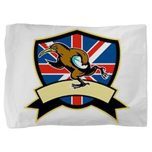Rugby Kiwi Bird Britain Pillow Sham