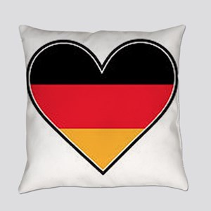 German heart flag Everyday Pillow