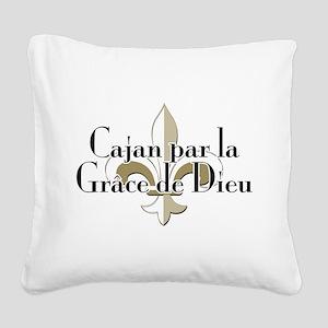 Cajan par la Grace Square Canvas Pillow