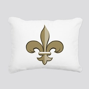 Fleur de lis black gold Rectangular Canvas Pillow