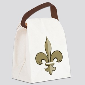 Fleur de lis black gold Canvas Lunch Bag