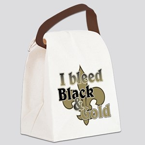 Bleed Black & Gold Canvas Lunch Bag