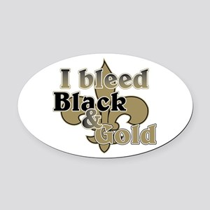 Bleed Black & Gold Oval Car Magnet