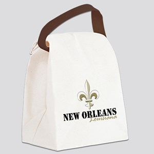 New Orleans Louisiana gold Canvas Lunch Bag
