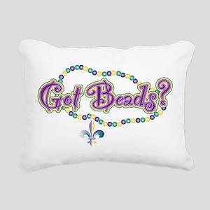 Got Beads? (MG) Rectangular Canvas Pillow