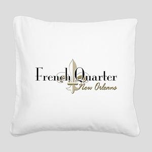 French Quarter NO Square Canvas Pillow