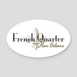 French Quarter NO Oval Car Magnet