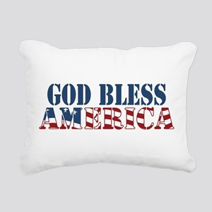 God Bless America Rectangular Canvas Pillow