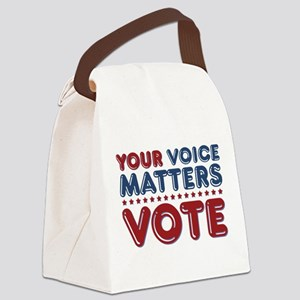 Your Voice Matters Canvas Lunch Bag