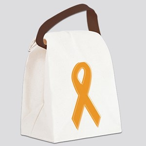 Orange Aware Ribbon Canvas Lunch Bag