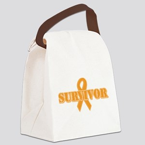 survivor_orange Canvas Lunch Bag