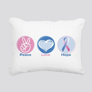 Peace Love BlPk Hope Rectangular Canvas Pillow