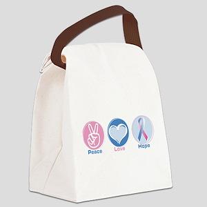 Peace Love Bl Pk Hope Canvas Lunch Bag