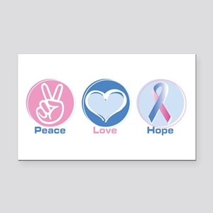 Peace Love BlPk Hope Rectangle Car Magnet